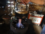Rice-husk powered stove
